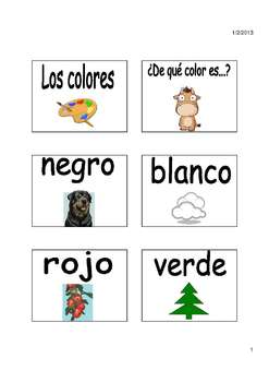 Charades Spanish Vocabulary Game / Clothing, Materials