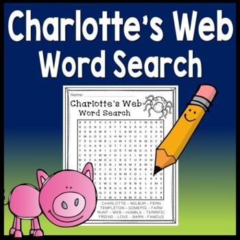FREE! Charlotte's Web Word Search by Happy Teacher Happy