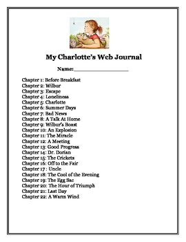 Charlotte's Web Journal by Life at the River-Jennifer