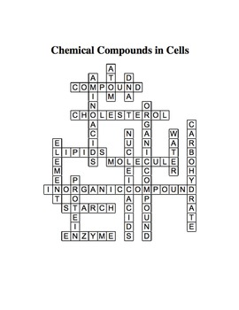 Chemical Compounds In Cells Worksheet Answer Key
