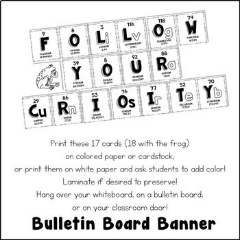 Chemical Element Periodic Table Bulletin Board Banner