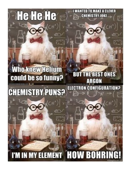 Chemistry Jokes By For The Love Of Teaching Science Tpt