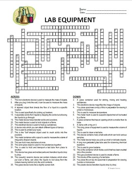 English Worksheets Equipment In The Science Lab Part