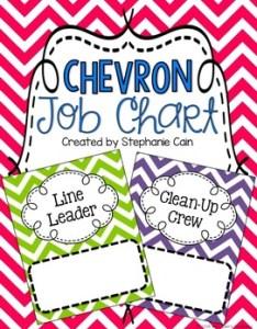 also chevron classroom job chart editable by mrs cain   creations tpt rh teacherspayteachers