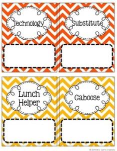 Chevron classroom job chart editable also by mrs cain   creations tpt rh teacherspayteachers