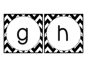 Chevron and Polka Dots BOGGLE Bulletin Board Letters by