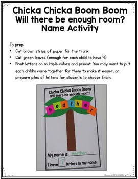 Boom Boom Boom Boom I Want You In My Room : Chicka, Activity, Learning, Langley