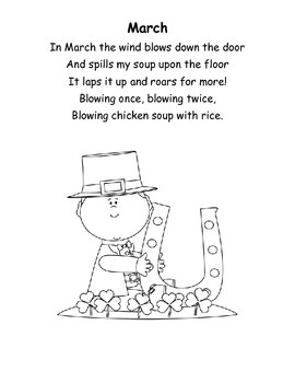 Chicken Soup with Rice Poetry Booklet by Science and