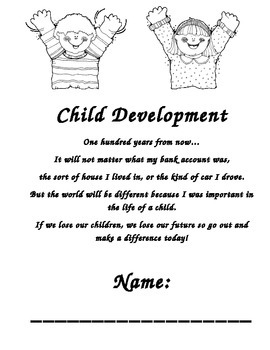 Child Development daily evaluations Workbook by Stacy