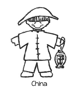 Children Around the World Coloring Pages by Loving Life in