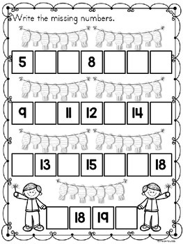 Chinese New Year 2018 Math Worksheets by Kindergarten