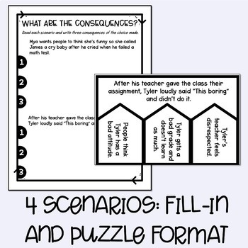 Choices and Consequences Lesson Plan and Activities by The