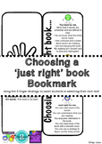 Choosing A Just Right Book Worksheets & Teaching Resources