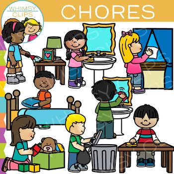 Chores Clip Art by Whimsy Clips Teachers Pay Teachers
