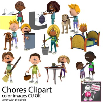 Chores Clipart Household Task Clip Art adverbs of
