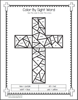 Christian Easter Worksheets for Kindergarten and First