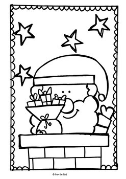 Christmas Coloring Packet {Scrappy Christmas Coloring} by