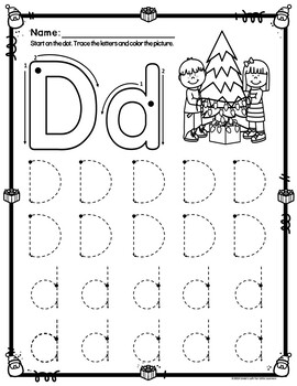 Christmas ABC Tracing Printables by Linda's Loft for