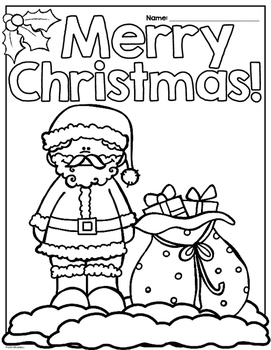 Christmas Activity Pages/Workbook Print and Go Second