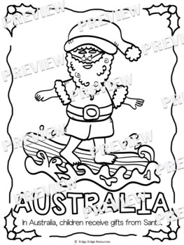 Christmas Around the World Coloring Pages and Acrostic