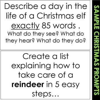 Christmas Bell Ringers (Interactive Writing Prompts) by