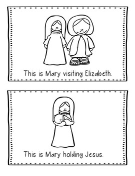 Christmas Bible Lesson Mary and the Angel (All About