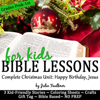 Christmas Bible NO PREP Lessons for December -Stories, Col