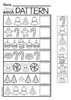 Christmas Activities for Kindergarten {Math and Literacy