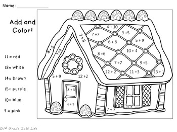 Christmas Color by Number / Christmas Coloring Pages by