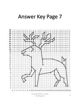 Christmas Coordinate Graphing-1st Quad-No decimals-6