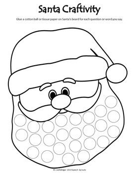 Christmas Santa Advent Calendar and Craftivity Freebie by