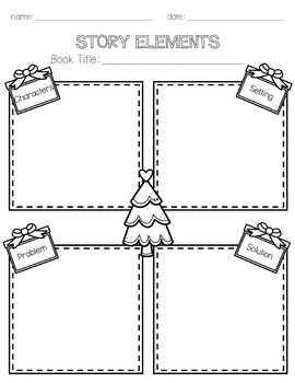 Christmas ELA Worksheets and Printables by Sunshine and