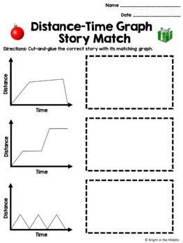 Christmas Edition: Distance-Time Graph Story Match: 7.P.1