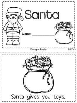 Christmas Emergent Readers with Sight Word Cut & Paste