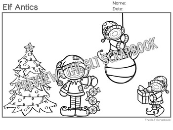 Christmas Following Directions Coloring Pack- 1, 2 and 3