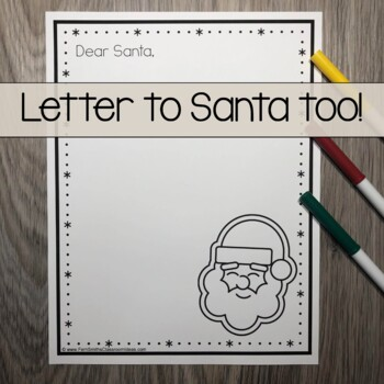 Christmas Coloring Page with Differentiated Seasonal