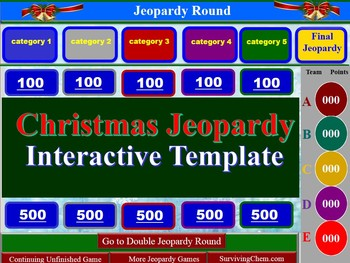 Christmas Jeopardy Interactive Game Template for Holly Jolly fun in ...