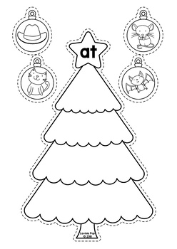 Christmas Literacy Centers for Kindergarten B&W by Lavinia