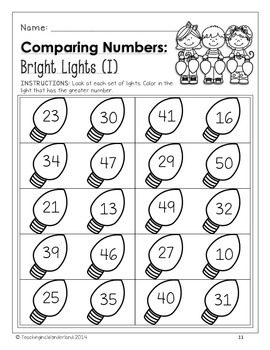 {Grade 1} Christmas Math Activity Packet by Teaching in a