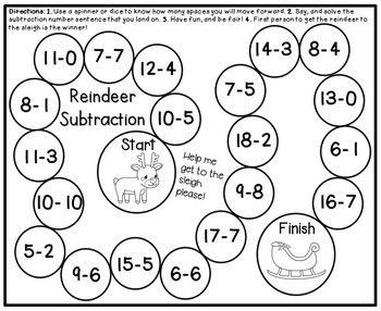 Christmas Math for First Grade- Board Games, Solve the