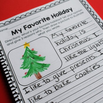 Christmas Math and Literacy Printables- No Prep (Common