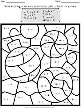 Christmas Multiplication Color By Number Sketch Coloring Page