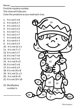 Christmas Multiplication and Division Worksheets by Fox