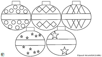 Christmas Ornaments Freebie Free Coloring pages (Color and