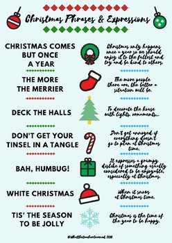 christmas phrases and expressions