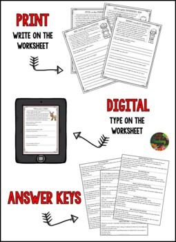 Christmas Reading Comprehension Passages and Questions by