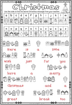 Christmas Secret Code Messages ~ Bible Theme by Ponder and