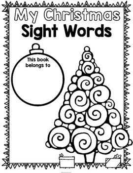 Christmas Sight Words Fry's First 100 {Print and Go} by