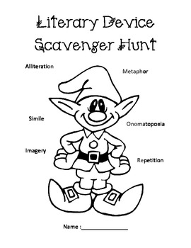 Christmas Song Literary Device Scavenger Hunt by Sandy