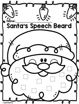 Santa's Beard Christmas Speech Therapy Craft by Speech